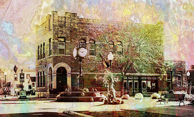 Digital Art - Wabasha City Hall by Susan Stone