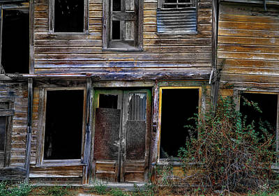 Quiet Town Photograph - Wabi-sabi Cabin. by Leland D Howard