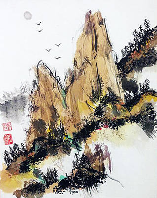 Painting - Wabi Sabi  Rising Up by Casey Shannon