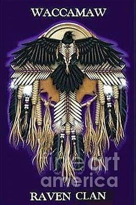 Digital Art - Waccamaw Raven Clan Logo by Stefan Duncan