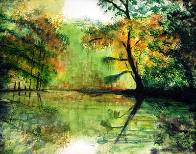 Waccamaw River Painting - Waccamaw River Sc by Phil Burton