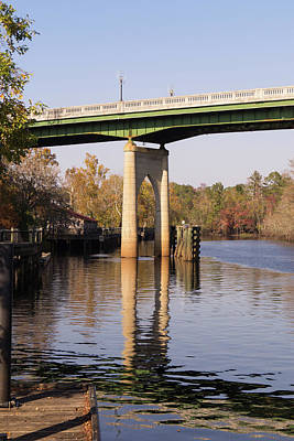 Photograph - Waccamaw Riverwalk And Bridge Autumn by MM Anderson
