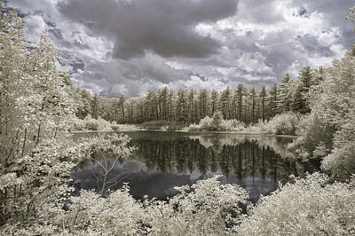 Photograph - Wachusett Reservoir Pond In Ir by Brian Hale