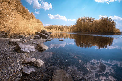 Photograph - Wachusett Shoreline In Ir by Brian Hale