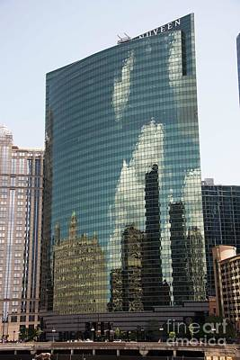 Photograph - Wacker Drive Reflections by David Bearden