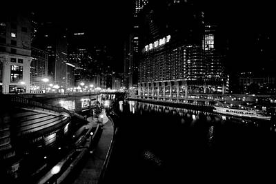 Wacker Drive - River Walk - Trump Tower - Chicago Art Print by Daniel Hagerman