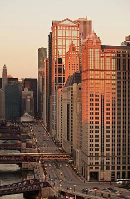 Wacker Drive Sunset Chicago Original by Steve Gadomski