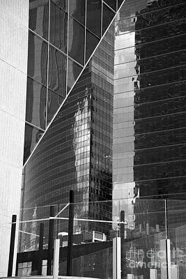 Photograph - Wacker Reflectors In B-w by David Bearden