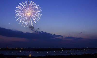 Ridgewood Photograph - Waco Fireworks by Brian Khoury
