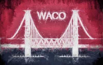 Digital Art - Waco Texas City Flag by JC Findley