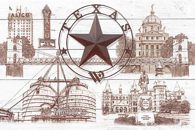 Digital Art - Waco Texas by Doug Kreuger