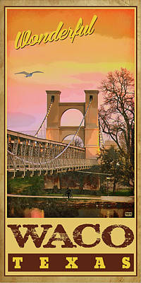 Waco, Texas Art Print
