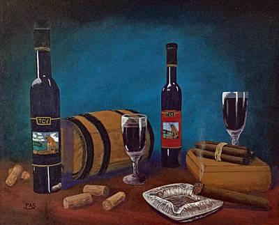 Box Wine Painting - Waco Winery by Pete Souza