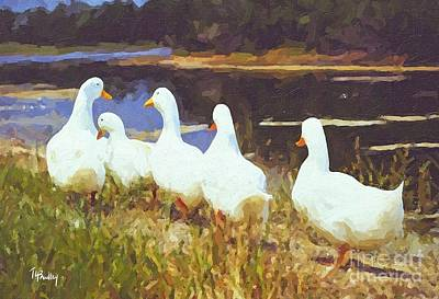 Painting - Waddle by Tammy Lee Bradley