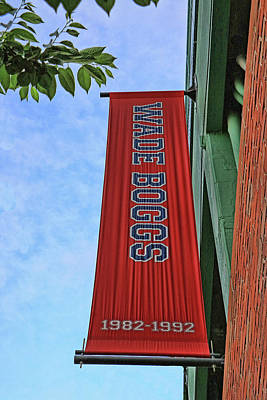 Photograph - Wade Boggs Banner - Fenway Park by Allen Beatty