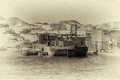 Photograph - Wadi Al-sebua Antiqued by Nigel Fletcher-Jones