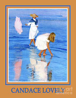 Painting - Wading For Shells Poster by Candace Lovely