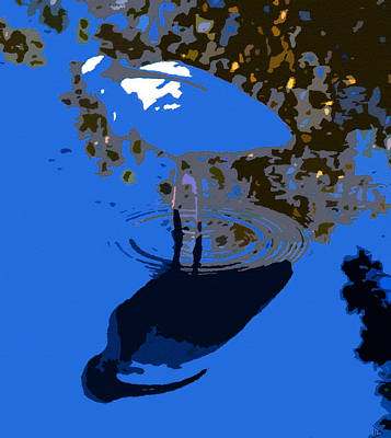 Ibis Digital Art - Wading Ibis Original Work by David Lee Thompson