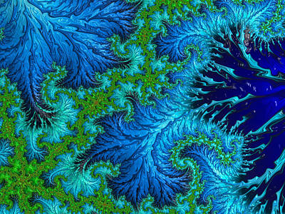 Digital Art - Fractal Art - Wading In The Deep by HH Photography of Florida