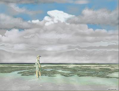 Digital Art - Wading The Salt Flats by Kerry Beverly