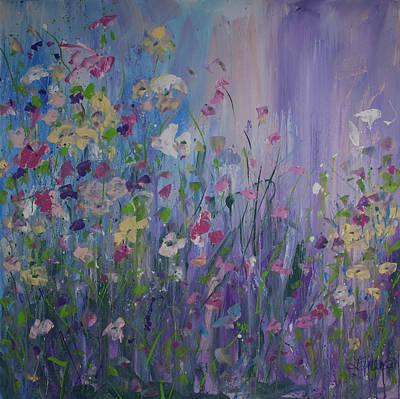 Painting - Wading Through The Flowers by Terri Einer