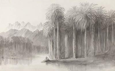 Drawing - Wady Feiran, Peninsula Of Mt. Sinai by Edward Lear