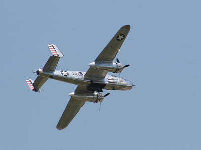 Photograph - Wafb 09 B25 Mitchell Bomber 2 by David Dunham