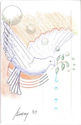 Drawing - Wage Peace by Rod Ismay