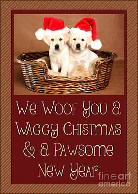 Digital Art - Waggy Christmas by JH Designs