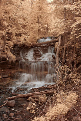 Photograph - Wagner Falls by CA  Johnson