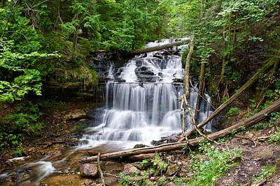Photograph - Wagner Falls Munising by Michael Peychich