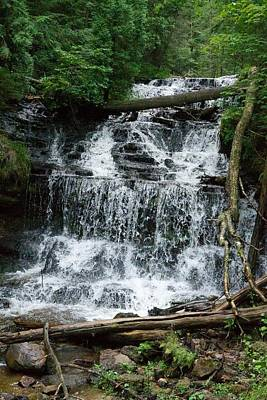 Photograph - Wagner Falls Munising Michigan by Michael Peychich