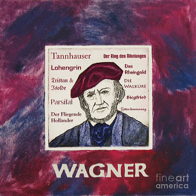 Wagner Portrait Art Print by Paul Helm