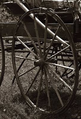 Photograph - Wagon And Wheel by Amanda Smith