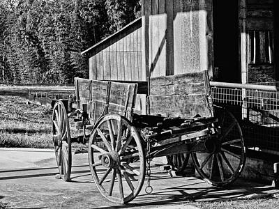 Photograph - Country Wooden Wagon by Cathy Harper