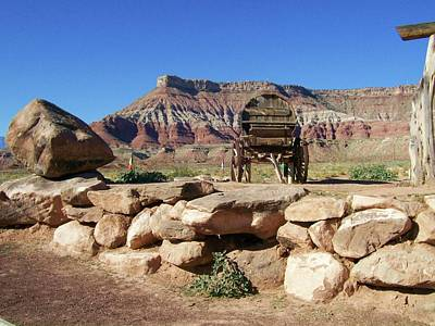 Painting - Wagon In Utah by Kathleen Heese
