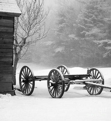 Photograph - Wagon In Winter by Linda Drown