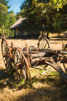 Photograph - The Old Wagon by Marilyn Wilson