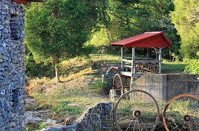 Wagon Wheels Photograph - Wagon Shed by Suzanne Gaff
