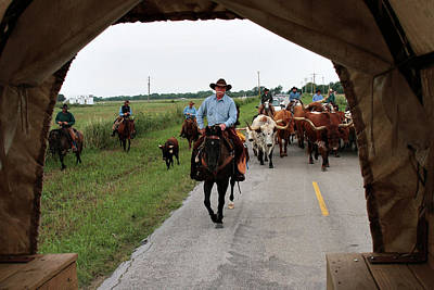 Photograph - Wagon View On The Cattle Drive by Toni Hopper