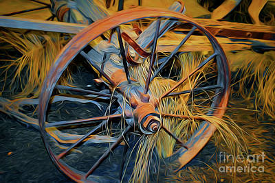 Photograph - Wagon Wheel 41118a by Ray Shrewsberry
