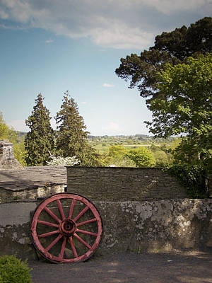Wagon Wheels Photograph - Wagon Wheel County Clare Ireland by Teresa Mucha