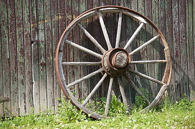 Photograph - Wagon Wheel by David and Lynn Keller