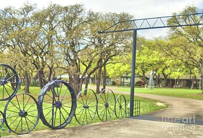 Photograph - Wagon Wheel Entrance by Janette Boyd