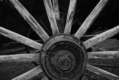 Art Print featuring the photograph Wagon Wheel by Eric Liller