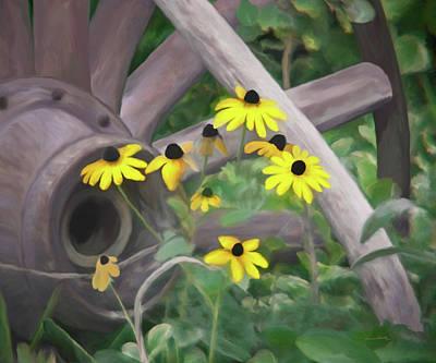 Painting - Wagon Wheel by Ernie Echols