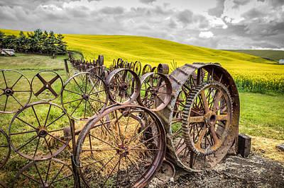 Wagon Wheel Fence Art Print