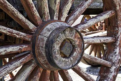 Photograph - Wagon Wheel by Fran Gallogly