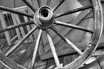 Photograph - Wagon Wheel by Jan Amiss Photography