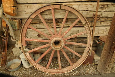 Wagon Wheel Art Print by Jeff Swan